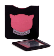 Leather Cat Mirror Purse