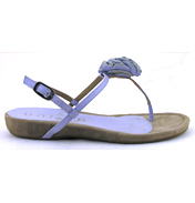 Amparo Silk Flat Toe Post Sandal in Icy Blue Size…