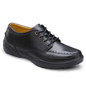 Dr Comfort Eric Leather Lace Up Shoes in Black…
