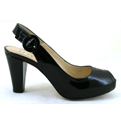 Neto Haiti High Peeptoe Slingback in Black Size 37…